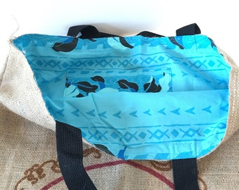 Hawaiian Queen Coffee Tote/ Beach Bag/ Travel Bag