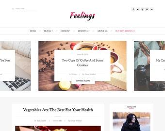 SALE! Blogger Responsive Template - Feelings