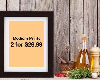 Any 2 medium art prints at special discount