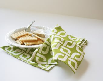Trendy Organic Small Cloth Napkins // Set of 4 Eco-friendly Small Luncheon Napkins // Organic Cloth Napkins for Her