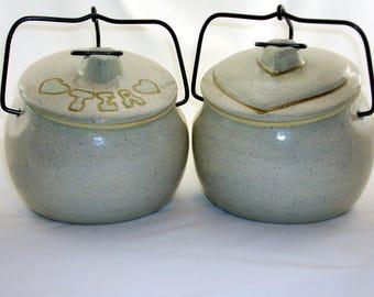 Ceramic Crocks Tea & Biscuit