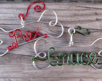 Personalized Pet Ornament / Christmas Ornament/ Wire Ornament / Holiday Ornament/ Holiday Gift / Couples Gift
