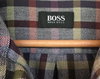 Hugo Boss Flannel Shirt - Large/Extra Large