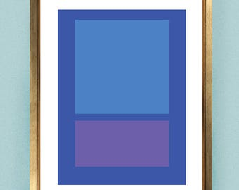 Blue Color Block Abstract