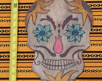 Sugar Skull Door Hanger Halloween Day of the Dead