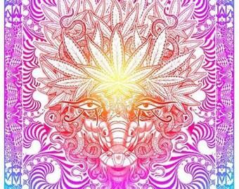 Weed Goat Deluxe / psychedelic marijuana art