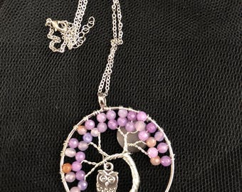 Tree of Life wire wrapped pendant necklace