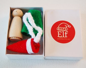 Stocking Stuffer - Create A Elf Craft Kit - Kids Craft Kits -DIY - Santa's Elf Kit - Christmas Craft- - Hanukkah - Stocking Stuffer