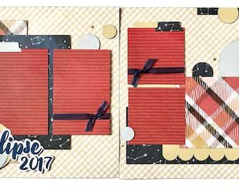 Eclipse 2017 2 Page Scrapbook Page Kit