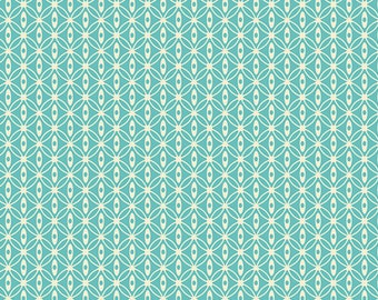"""Emmy Grace Fabric from Art Gallery """"Knotty Rain"""" by Bari J. Butterfly Fabric.  Turquoise Blue. 100% cotton. EMG-4601"""