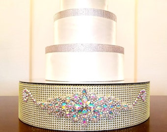 Gold Bling 16 Inch Wedding Cake Stand