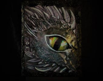 Dragon Green Eyes 3D art