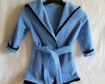 embroidered blue Terry bathrobe personalized 2-10 years