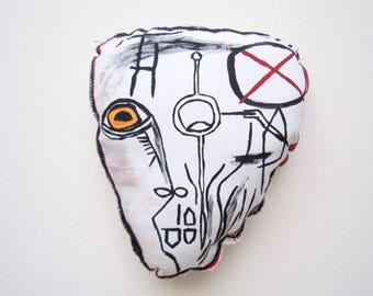 Gift Basquiat art gift yellow eye home decoration wall art gift for her him birthday gift graduation anniversary art gift fabric sculpture