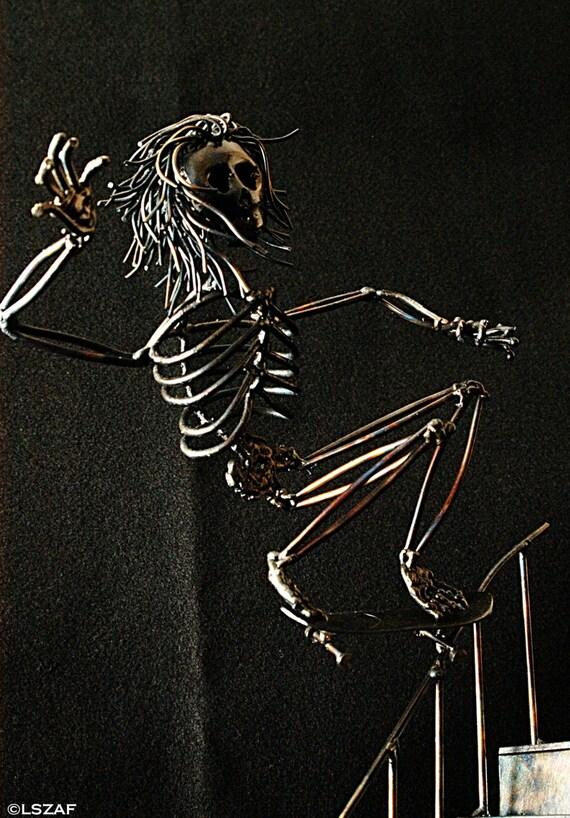 Skeleton figurine - collector series - street skater - skateboarding - skateboard decor - skateboard art - skater gifts - skate or die