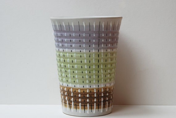 Denby Burlington Multi Coloured Tall Plantervase