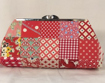Patched Red Clutch