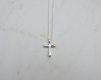 Sterling Silver Cross Necklace, 925 Sterling Silver