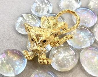 VINTAGE - Tiger Crystal brooch