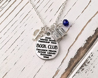 Personalized Book Club Necklace