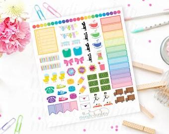 92 Sampler Set Stickers – Perfect for Erin Condren, Plum Paper Planner, Inkwell Press, Filofax, Scrapbooking & More