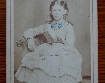 CDV Indiana 1800's Sepia Photograph
