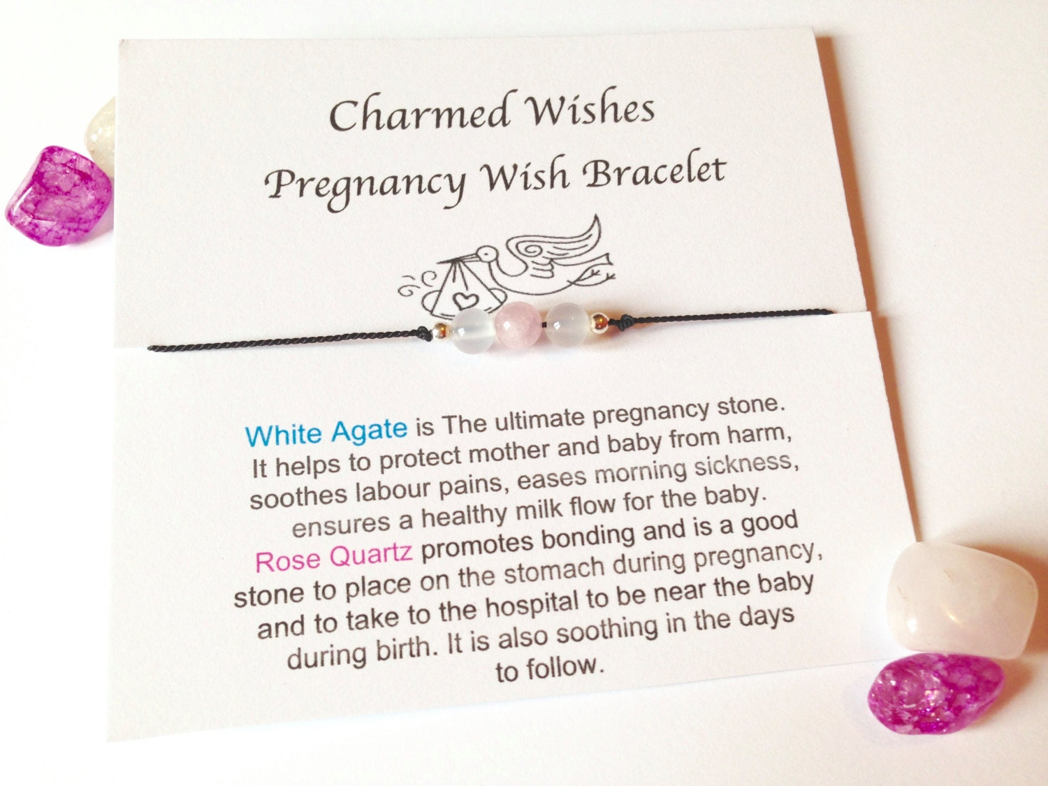 Pregnancy wish bracelet mum to be gift pregnancy zoom kristyandbryce Image collections