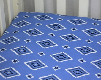 Fitted Crib Sheet / Mini Crib Sheet - Lanafi Azure