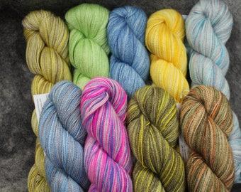 Baby Alpaca/Silk Lace Wt. Yarn (Lots 727 - 735),  800 yd, 4.3 oz