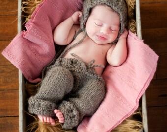 Knitting Pattern - Baby Girl Pants Pattern - Newborn Photo Prop Pattern - Baby Girl Knit Pattern - Newborn Knit Pattern - Baby Prop Pattern