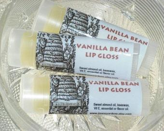 Vanilla Bean Lip Balm-Lip Gloss-Moisturizing-Oval tube