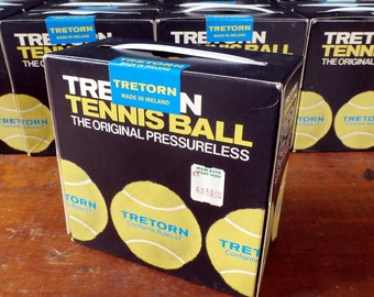 Vintage Tretorn Pressureless Tennis Balls, Sealed Box of 4