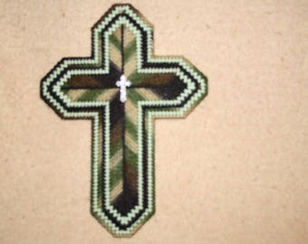 Green camouflage double cross
