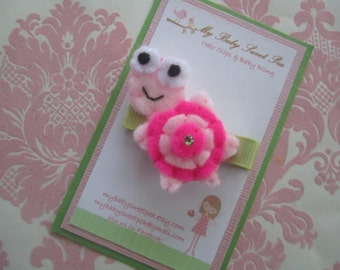 Girl hair clips - turtle hair clips - girl barrettes - no slip hair clips