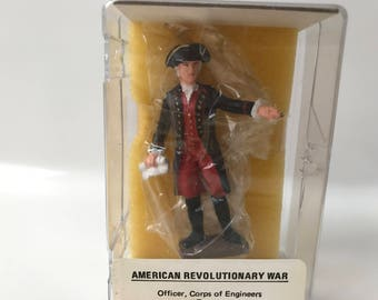 Vintage Reeves International American Revolutionary Officer Corps, of Engineers, France  1776 Toy Soldier