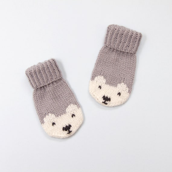 Baby And Toddler Mittens Knitting Pattern Polar Bear Mittens
