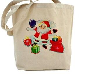 Santa Claus - Christmas - Cotton Canvas Tote Bag - Gift Bags