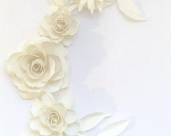 Invitation flower set with leaves in any colour