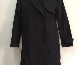 Japanese Brand Theory luxe blue Black Trench Coat/Long Coat