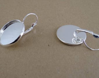 6 support sleeper earrings cabochon 20 mm ba054