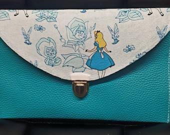 Alice in Wonderland Clutch Bag