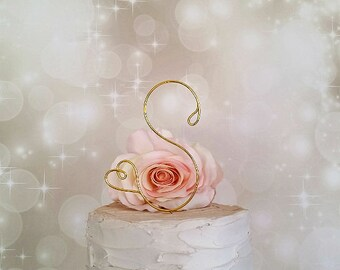 Initial Wedding Cake Topper, Monogram Wedding Cake Topper, Bridal Shower Cake Decoration, Engagement Cake Topper, Initials Cake Topper