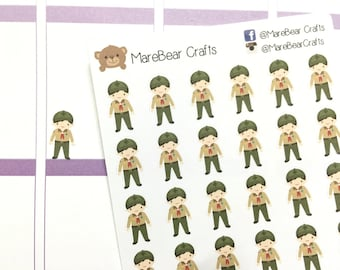 30 Boy Explorer Stickers! Perfect for your Erin Condren Life Planner, Filofax, Plum Paper & other planner or scrapbooking!