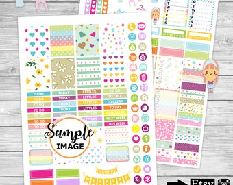 Spring Stickers, Weekly Planner Stickers, Printable Planner Kit, Weekly Stickers, Agenda Stickers
