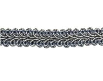 "E1901 Pewter Gray Gimp Sewing Upholstery Trim 1/2"" (E1901-PT)"