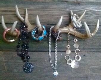Deer Antler Jewelry Holder / Scarf Rack / Faux Deer Antlers / Wall Antler Hooks