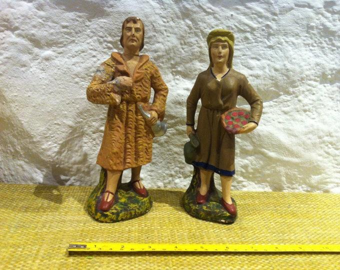 Vintage Christmas Xmas Crib Figures Figure decoration
