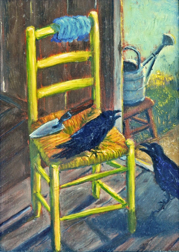 & Van Goghu0027s chair Crows and a Chair Chair paintings Crow