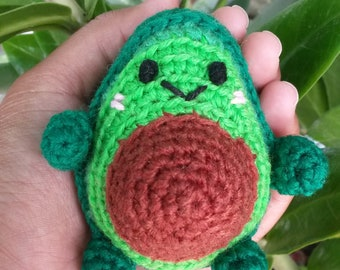 Avocado ornament / crochet ornament / avocado crochet / avocado amigurumi / avocado keychain / avocado accessory / kitchen