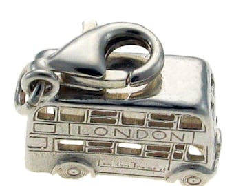 Welded Bliss Sterling 925 Silver Charm. Iconic Routemaster London Bus, Clip Fit. WBC1183